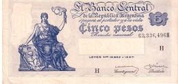 Argentina P.252   5  Pesos  1935 Au - Argentina
