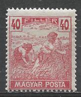 Hungary 1920. Scott #185 (M) Harvesting Wheat * - Hongrie