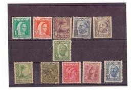 Marruecos. Protectorado. 11 Sellos 1948-1951. Tanger. N° 151 A 161. Rastros De Oxido Y Bisagras. - Marruecos Español