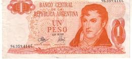 Argentina P.287 1 Peso 1970 Unc - Argentina