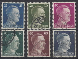 Alemania Imperio U 717/722 (o) Hitler. 1941. Grabados - Gebruikt