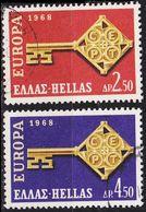 GRIECHENLAND GREECE [1968] MiNr 0974-75 ( O/used ) CEPT - Grèce