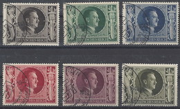 Alemania Imperio U 763/768 (o) Hitler. 1943 - Gebruikt