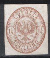 Germania Lubecca 1864 Unif.13 **/MNH VF/F - Lubeck
