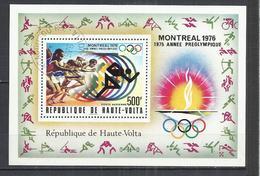 UPPER VOLTA 1976 - OLYMPIC GAMES - SOUVENIR SHEET - USED OBLITERE GESTEMPELT USADO - Estate 1976: Montreal
