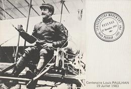 Rare Cpa Centenaire Louis Paulhan Avec Tampon Inauguration Monument à Pezenas - Aviateurs