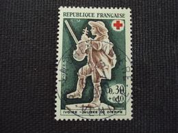"""60-69- Timbre Oblitéré N°  1541  """" Le Violoneux, Croix Rouge  """"  0.30 - Francia"""