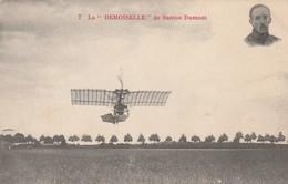 Rare Cpa La Demoiselle De Santos-dumont - Aviateurs