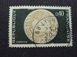 """60-69- Timbre Oblitéré N° 1542   """"50 Ans Des Chèques Postaux   """"  0.15 - Francia"""