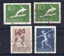 Sweden - 1953 - 50th Anniversary Swedish Athletic Association (Part Set) - Used - Oblitérés