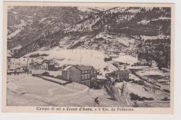 CROCE D'AUNE (BL)  , Campo Da Sci A 9 Km Da PEDAVENA   - F.p. - Anni '1920 - Belluno