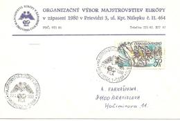 1980  Championnats  D 'Europe De Lutte : Prevdidza (Tchécoslovaquie) - Lutte
