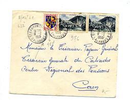 Lettre Cachet Rural  Sur Lourdes Saint Laurent - Marcophilie (Lettres)