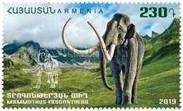 Armenia Arménie Armenien 2019 Mi 1111 Flora And Fauna Of The Ancient World Mammuthus Trogontherii Geological MNH** - Armenia