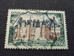 """60-69- Timbre Oblitéré N°  1559  """" Chateau De Langeais  """"     2  Euros - Used Stamps"""
