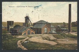 +++ CPA - TAMINES - Charbonnage St Henri à OIGNIES - 1908   // - Sambreville