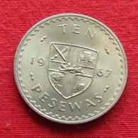 Ghana 10 Pesewas 1967 KM# 16 *V1  Gana - Ghana