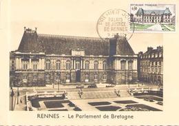 """France  Carte Maximum Du 9 Juin 1962 à Rennes """" Le Parlement De Bretagne """" - 1960-69"""