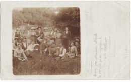 COLMAR (68) CARTE PHOTO.EXCURSION FAMILLE HUG. VINS SCHIRA-HUG à WALBACH-TURCKEIM ? 1902. A SITUER. - Colmar