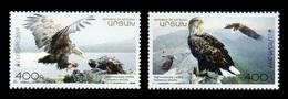 Armenia (Nagorno-Karabakh) 2019 Mih. 191/92 Europa. National Birds. Fauna. White-Tailed Eagles MNH ** - Armenia