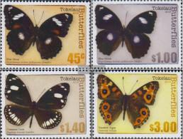 Tokelau 437-440 (complete Issue) Unmounted Mint / Never Hinged 2013 Butterflies - Tokelau