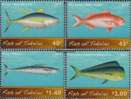 Tokelau 428-431 (complete Issue) Unmounted Mint / Never Hinged 2012 Marine Fish - Tokelau