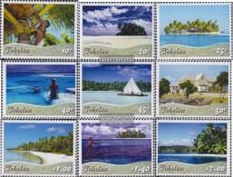 Tokelau 417-425 (complete Issue) Unmounted Mint / Never Hinged 2012 Tourism - Tokelau