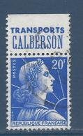 France Marianne De Muller - YT N° 1011Bb - YT N° 1011 B B - Oblitéré - Pub Transports Calberson - 1955 à 1959 - 1955- Marianne (Muller)