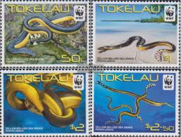 Tokelau 408-411 (complete Issue) Unmounted Mint / Never Hinged 2011 Plättchenseeschlange - Tokelau