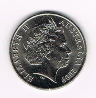 &-   AUSTRALIE   20 CENTS  2009 - Monnaie Décimale (1966-...)