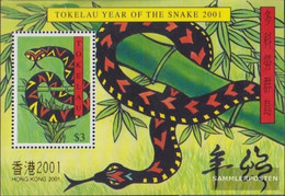 Tokelau Block22I (complete Issue) Unmounted Mint / Never Hinged 2001 Chinese Year - Hong Kong - Tokelau