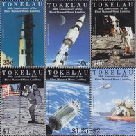 Tokelau 281-286 (complete Issue) Unmounted Mint / Never Hinged 1999 1. Manned Moon Landing - Tokelau