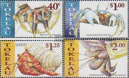 Tokelau 277-280 (complete Issue) Unmounted Mint / Never Hinged 1999 Crustaceans Of Pazifiks - Tokelau