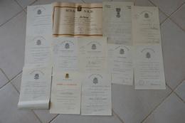 Lot Certificat Diplôme Décoration Sans Médaille Même Soldat Militaire Belge 1935 à 1959 +  Guerre 40/45 - Documents