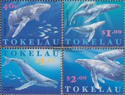 Tokelau 244-247 (complete Issue) Unmounted Mint / Never Hinged 1997 Buckelwal - Tokelau