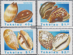 Tokelau 238-241 (complete Issue) Unmounted Mint / Never Hinged 1996 Porzellanschnecken - Tokelau