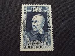 "60-69- Timbre Oblitéré N°  1590 "" Albert Roussel  ""   0.30 - Usados"