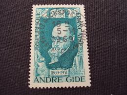 """60-69- Timbre Oblitéré N° 1594   """"  André Gide  """"  0.50 - Francia"""