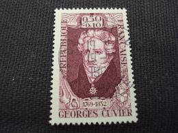 """60-69- Timbre Oblitéré N°    1595""""   Georges Cuvier """"   0.40 - France"""