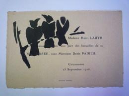 GP 2019 - 660  FAIRE-PART De  FIANCAILLES  De Andrée  LAUTH Et Denis PADIEU  à Carcassonne  25 SEPT 1926  XXXX - Engagement