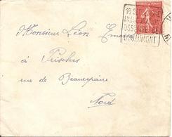 Enveloppe Avec Timbre 50c N° 199A + Cachet 18 Septembre Inauguration Ossuaire De Douaumont - Postmark Collection (Covers)