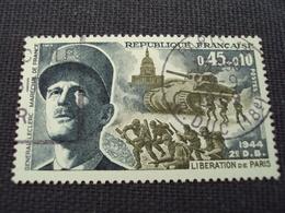 """60-69- Timbre Oblitéré N°   1607 """"  Maréchal Leclerc, Libération De Paris 1944 """"     0.80 - France"""