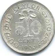 Ceylon - Victoria - 1900 - 50 Cents - KM96 - Sri Lanka