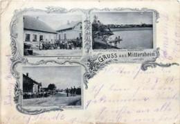 France - 57 - Gruss Aus Mittersheim - Wirthschaft J.Steil -Partie Von Canal - Total Ansicht - Pli Vu Uniquement Au Verso - Sarrebourg