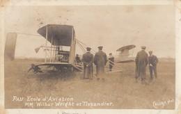 PAU: Ecole D'Aviation - MM. Wilbur WRIGHT Et TISSANDIER - Pau