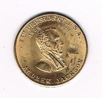&- PENNING  ANDREW  JACKSON  7 TH  PRESIDENT  U.S.A. - Elongated Coins