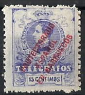 Marruecos Español Telégrafos Nº 3 Con Charnela - Marruecos Español