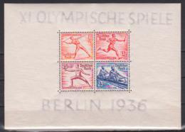 Germany Deutsches Reich Block 6z  ** Dickes Papier (0,22 Mm) Olympische Sommerspiele 1936 Berlin - Blocks & Kleinbögen
