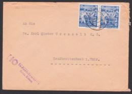 Bodenreform In Der DDR 1945 - 1955, Portogenau 10 Pf.(2) Maurer, Hausbau Auf Enteigneten Großgrundbesitz, HO Zittau - Brieven