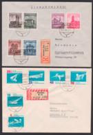 Satz-R-Brief DDR 495, 907 Erfurter Dom Berliner Rathaus, Magdeburger Dom, Deutsche Staatsoper, Schwimmen - DDR